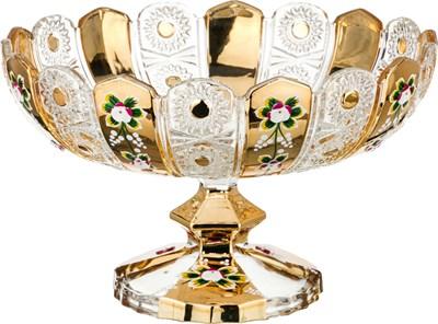 ФРУКТОВНИЦА НА НОЖКЕ LEFARD GOLD GLASS ДИАМЕТР=30 СМ ВЫСОТА=19 СМ (КОР=4ШТ.) - фото 8341