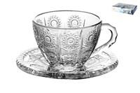 Набор чайных пар 1/6 200мл, п/уп TZ-GB09D6007XTY Хрустальное солнце