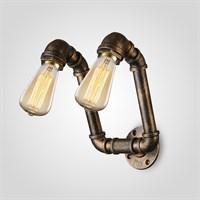 Бра на Две Лампы в Стиле Лофт (Металл)