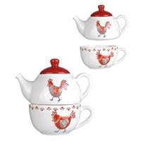 Чайный Набор Чайник и Чашечка