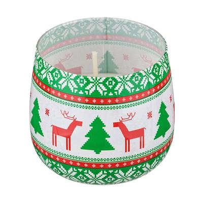 СВЕЧА SWEET CHRISTMAS АРОМАТ=ЦВЕТОЧНЫЙ. ВЫСОТА=7 СМ. ДИАМЕТР=8 СМ. (КОР=12ШТ.) - фото 14139