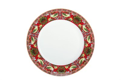Тарелка десертная 19см  P011-A07023R Strawberry Thief (red) - фото 37297