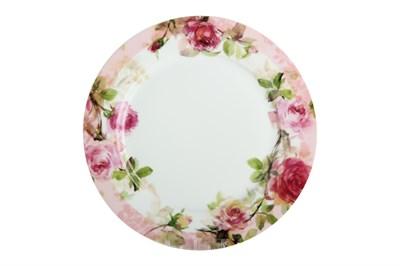 Тарелка обеденная 24см ф.круг P016-A06905 Роза - фото 37301