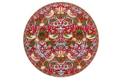 Тарелка обеденная 24см  P016-A07023R Strawberry Thief (red) - фото 37307