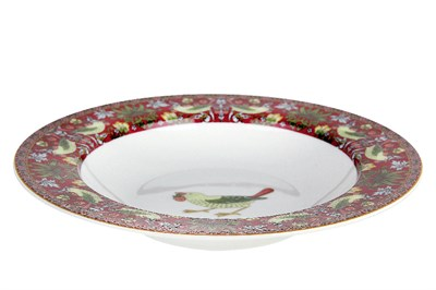 Тарелка суповая 300мл/21.5см  B0943-A07023R Strawberry Thief (red) - фото 37314