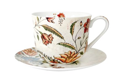 Пара чайная 370мл Jumbo  B0940-A06952 Butterfly Flora - фото 37377