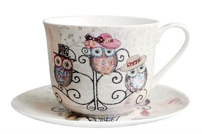 Пара чайная 370мл Jumbo  B0940-A07011 Owl Hatstand - фото 37378
