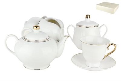 Набор чайный 6/14 ф.классическая 220мл. п/уп VZLC-14 Золотой Лед - фото 37392