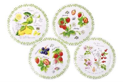 Тарелка десертная 19см ф.круг BD-MP8-923 Fruit garden (4 диз) - фото 37450