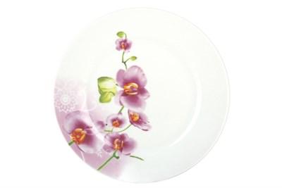 Тарелка обеденная 23см круг OV1203-2 Орхидея - фото 37467
