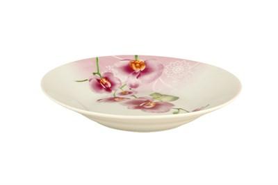 Тарелка суповая 500мл/20см круг OV1203-2 Орхидея - фото 37478