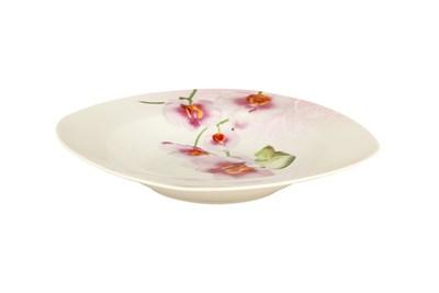 Тарелка суповая 550мл/23см квадр OV1203 Орхидея - фото 37482