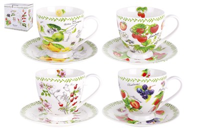 Пара чайная ф.круг 440 мл п/уп BD-C350S6-924 Fruit garden (4 диз) - фото 37515
