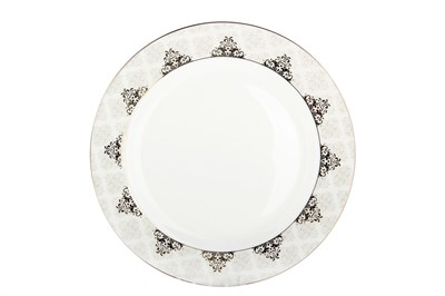 Тарелка десертная 20см круг SX-P804 Вензель - фото 37641