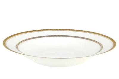 Тарелка суповая 20см круг SX-PS03 Греческий узор - фото 37652