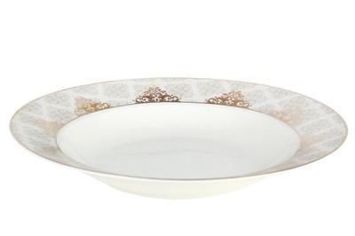 Тарелка суповая 20см круг SX-PS04 Вензель - фото 37653
