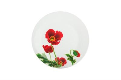 Тарелка десертная  18см  LX7693 Красные маки - фото 37715