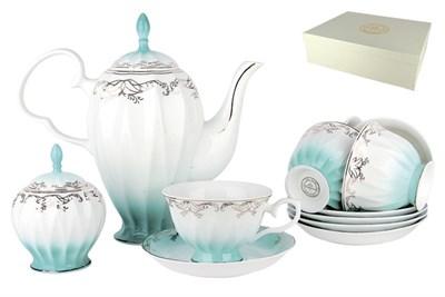 Набор чайный 6/14 250мл п/уп LS014-3(14PSC) Симфония голубая - фото 37732