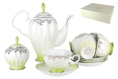 Набор чайный 6/14 250мл п/уп QS014-3(14PCS) Симфония салатовая - фото 37733