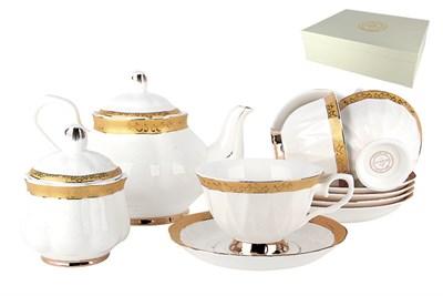 Набор чайный 6/14 250мл п/уп Y004-402(14PSC) Золотой дуэт - фото 37734