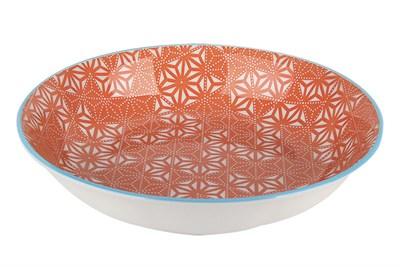 Тарелка глубокая 20см ф.круг HGP-W5566 Оранж - фото 37903