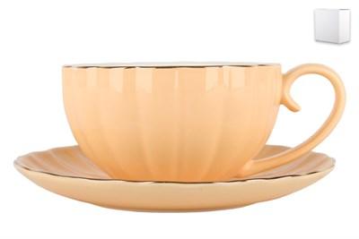 Набор чайный 1/2 ф.круг 280мл ZL09782-1 Миндальный крем - фото 37959
