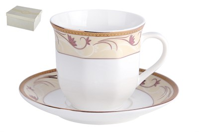 Набор чайный 1/2 ф.ребристая 200мл п/уп NBJ02-G08 Грейс - фото 37971