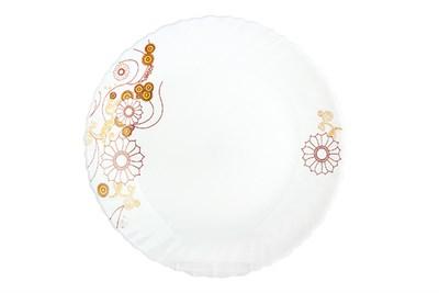 Тарелка плоск.24см  LHP95-JLX161 янтарный - фото 38098