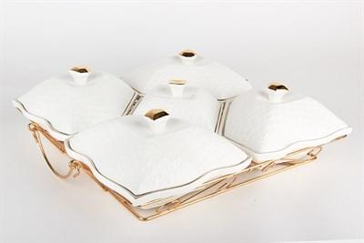 Менажница 5 секций на метал.подставке  CPT0792-A Снежная королева/з - фото 38423