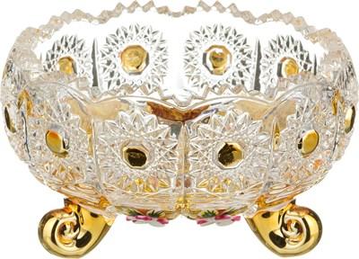 КОНФЕТНИЦА LEFARD GOLD GLASS ДИАМЕТР=11 СМ. ВЫСОТА=7 СМ. (КОР=36ШТ.) - фото 8328