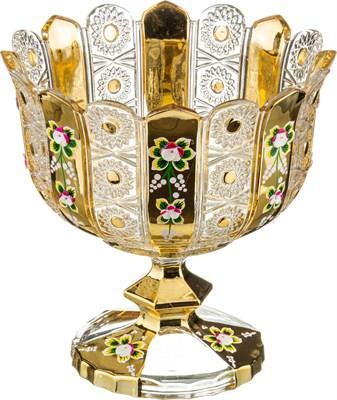 КОНФЕТНИЦА НА НОЖКЕ LEFARD GOLD GLASS ДИАМЕТР=24 СМ. ВЫСОТА=25 СМ. (КОР=4ШТ.) - фото 8337