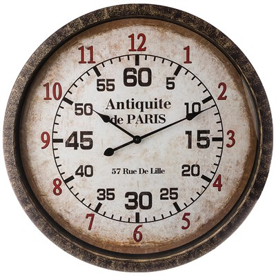 ЧАСЫ НАСТЕННЫЕ КВАРЦЕВЫЕ ANTIQUITE DE PARIS ДИАМЕТР=67 СМ  (КОР=3 ШТ.) - фото 9207