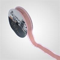 Лента с Бахромой для Упаковки Цветов и Подарков Темно-Розовая