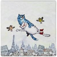 ПОДСТАВКА ПОД ГОРЯЧЕЕ КОЛЛЕКЦИЯ BLUE CATS 10*10 СМ