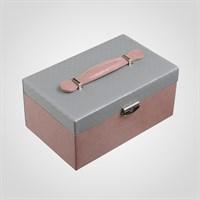 Набор из Двух Шкатулок для Украшений Розовый+Серый
