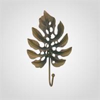 Металлический Крючок-Лист Монстеры Зеленый с Золотистым