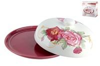 Блюдо д/блинов с кр. 23см, п/уп HC604R-K59 Красная роза
