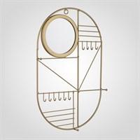 Металлическая Золотистая Ключница-Органайзер с Зеркалом Большая