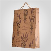 Пакет Подарочный Крафтовый с Лавандой XXL (от 12-ти штук)