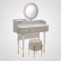 Набор Туалетный Столик, Пуф, Зеркало с Подсветкой