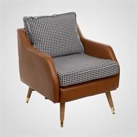 Интерьерное Кресло с Черно-Белым Принтом