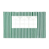 Стенка для садового тента Green Glade 4110 1,95х2,95м полиэстер с окном зеленая (20)