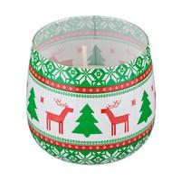 СВЕЧА SWEET CHRISTMAS АРОМАТ=ЦВЕТОЧНЫЙ. ВЫСОТА=7 СМ. ДИАМЕТР=8 СМ. (КОР=12ШТ.)