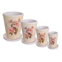 Набор кашпо  керамических ROSE (4 шт.)