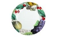 Тарелка обеденная 24см ф.круг P016-A06904 Фрукты