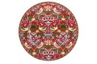 Тарелка обеденная 24см  P016-A07023R Strawberry Thief (red)