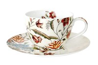 Пара чайная 250мл  B0939-A06952 Butterfly Flora
