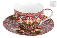 Пара чайная 250мл  B0939-A07023R Strawberry Thief (red)