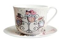 Пара чайная 370мл Jumbo  B0940-A07011 Owl Hatstand