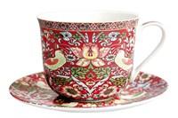 Пара чайная 370мл Jumbo  B0940-A07023R Strawberry Thief (red)